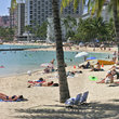 Waikiki Beach in Honolulu.
