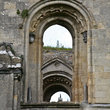 Windows of the ruins of Gastonbury Abbey.