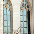 Windows to the Cathedral Basilica of the Assumption in Newport.