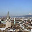 Skyline of Zurich.