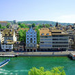 The river through Zurich.