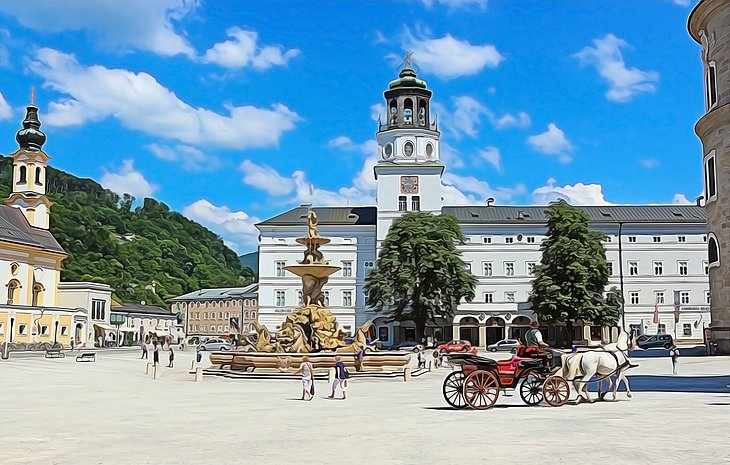 Horse and carriage, Salzburg