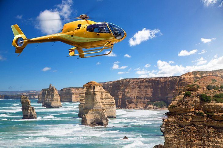 Hover in a Helicopter over the 12 Apostles, Victoria