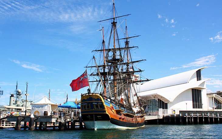 HMB Endeavour, Darling Harbour
