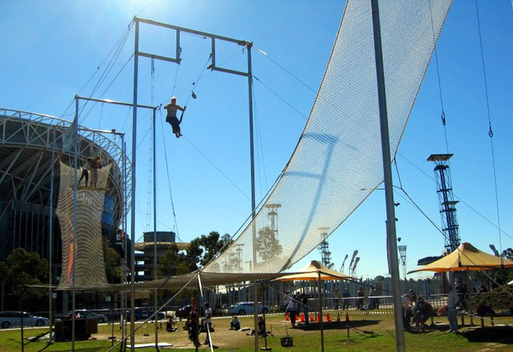 Soar on a Trapeze at Sydney Olympic Park