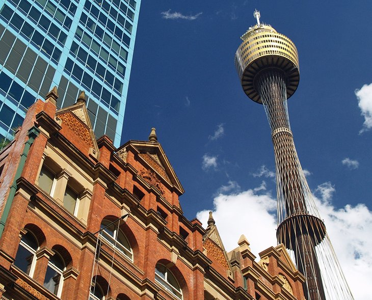 Zoom to the top of the Sydney Tower Eye