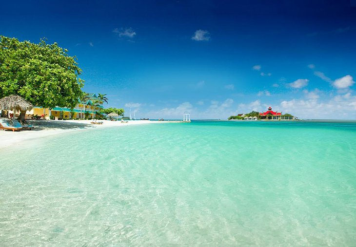 Private island at Sandals Royal Caribbean