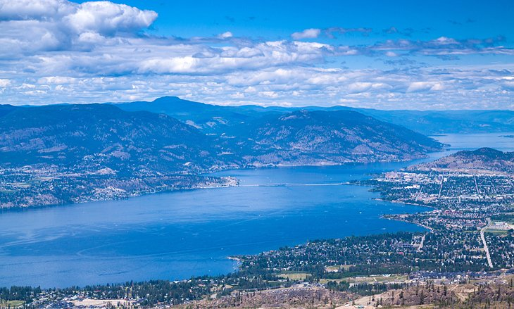 View Over Kelowna And Lake Okanagan