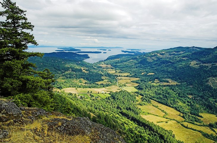 View from Mount Maxwell on Salt Spring Island