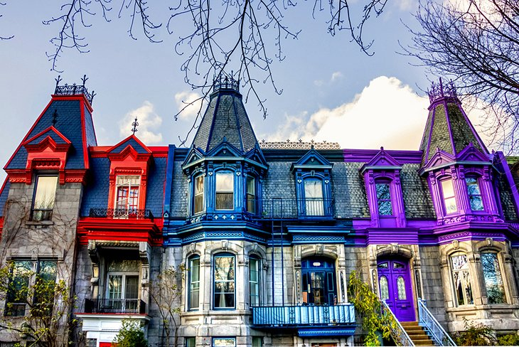 Colorful Victorian homes