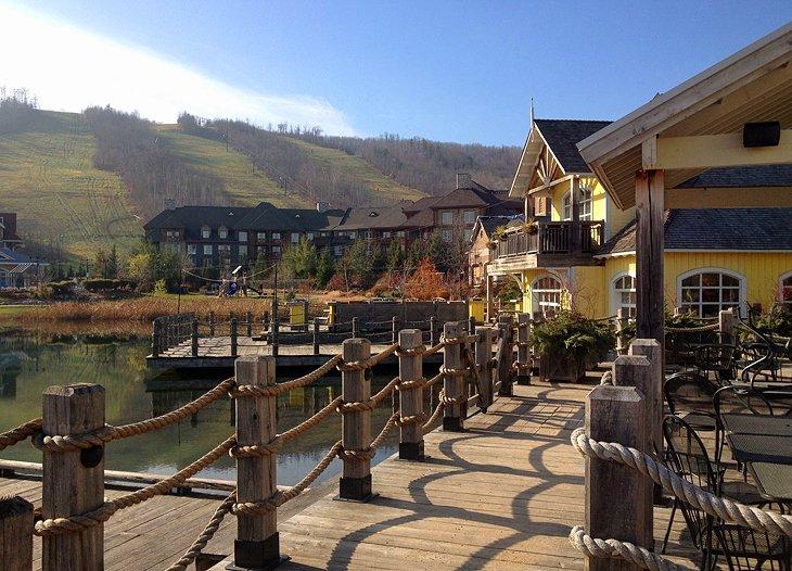 Resort de montaña azul