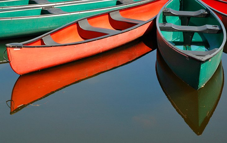 Rental canoes at Dows Lake Pavilion