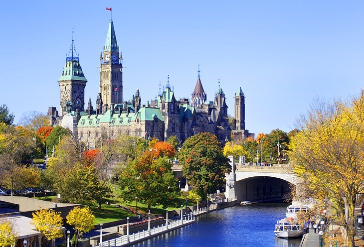 The Parliament of Canada and the Rideau Canal
