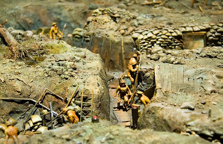 Miniature war exhibit at the Canadian War Museum