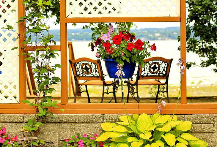 Picturesque verandah at Ile d'Orleans