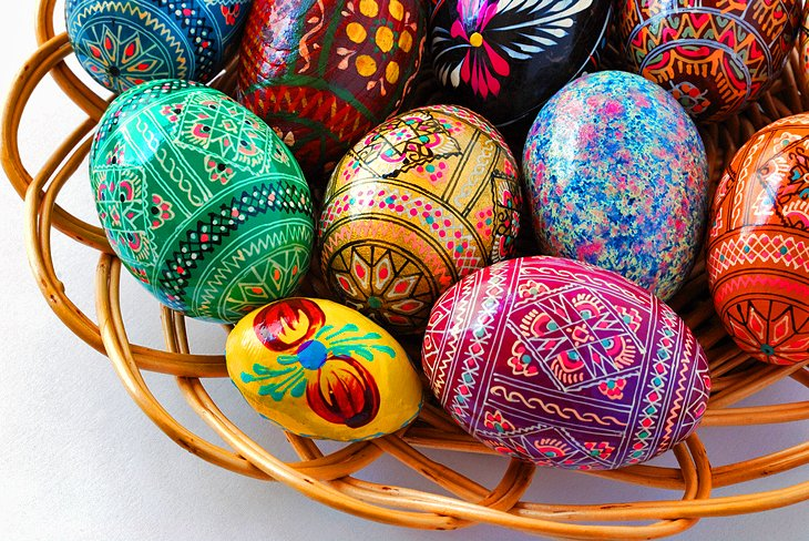 Colorful Ukrainian eggs