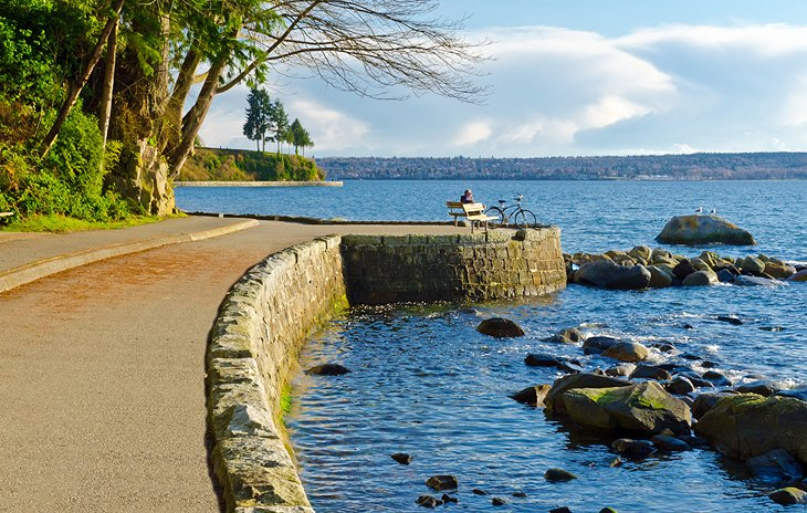 Seawall Path At Stanley Park