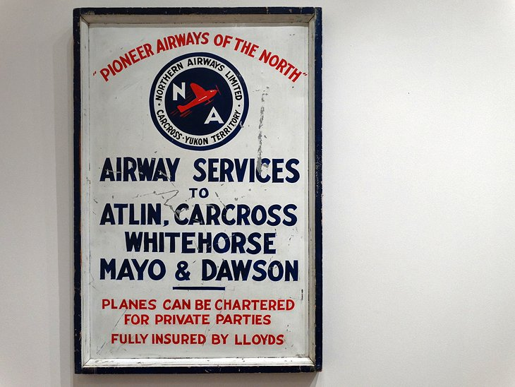 Antique sign at Yukon Transportation Museum