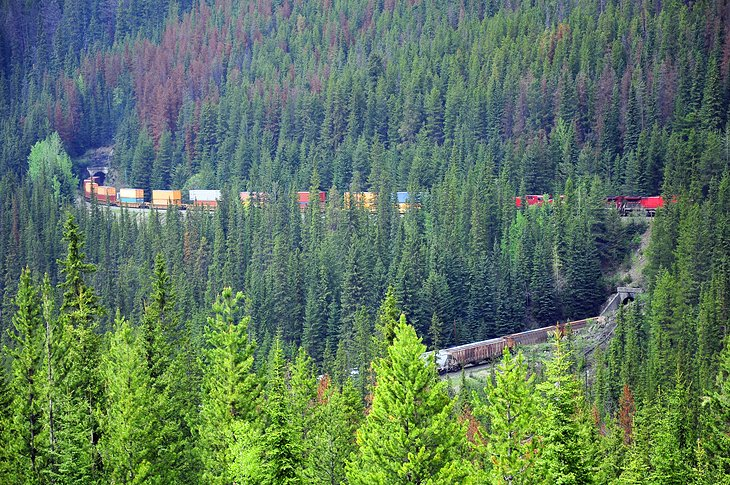 Kicking Horse Pass and the Spiral Tunnels