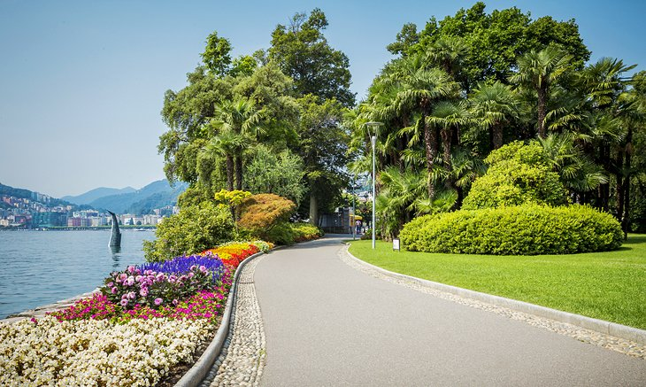 Lugano's Lakeside Parks and Promenade
