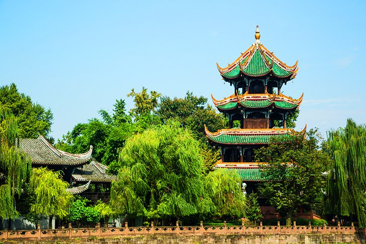 Wangjianglou Park and River Watching Tower