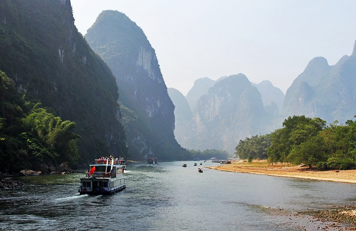 Cruise ship on the Li River