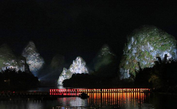 Espectáculo de luces de impresión de Liu San Jie en Yangshuo