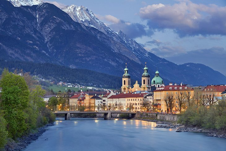 Innsbruck and mountains