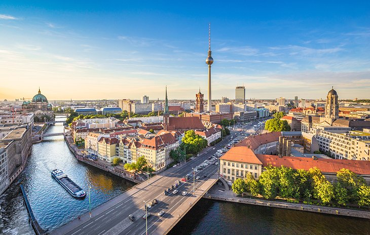 Berlin skyline & the Spree river