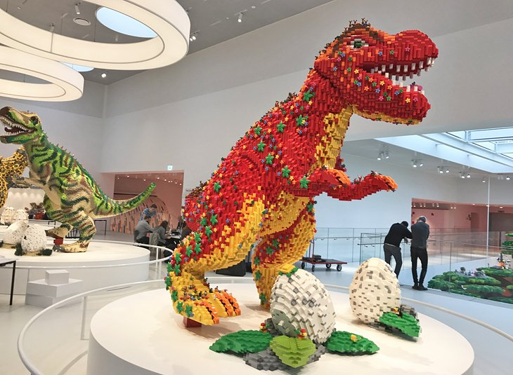 Dinosaurs made of LEGO at the LEGO House