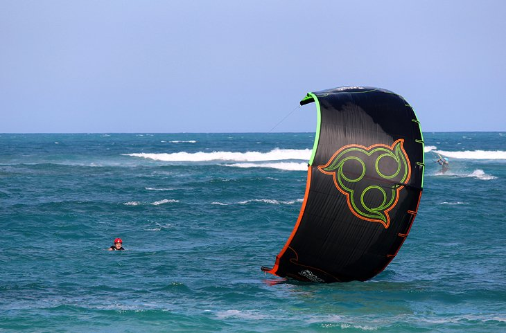 Kiteboarding lessons in the water