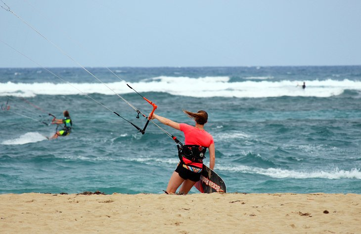 Kiteboarder on Kite Beach