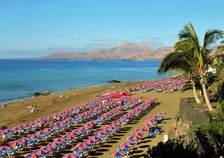 The Beach Resort of Puerto del Carmen (Lanzarote Island)