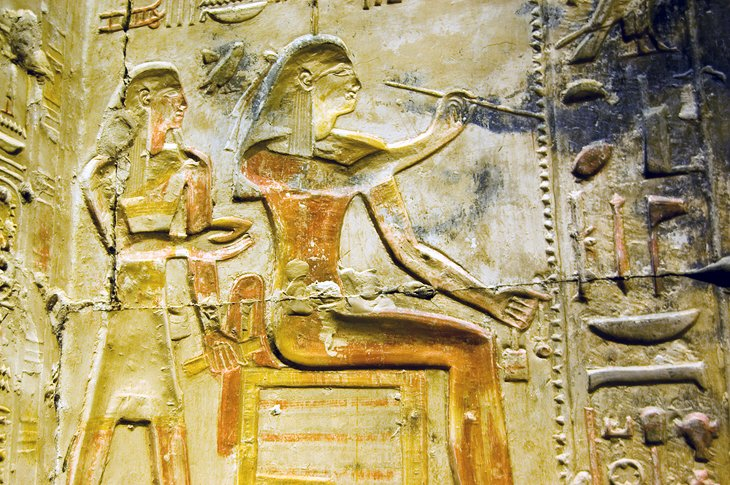 Relief at the Temple of Abydos