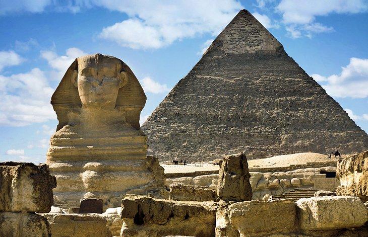 Pirámide de Chephren y Sphinx