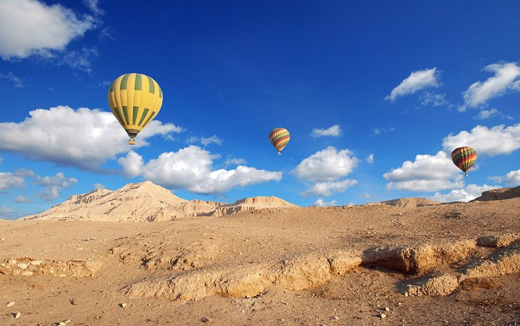 Hot Air Balloons over Valley of the Kings