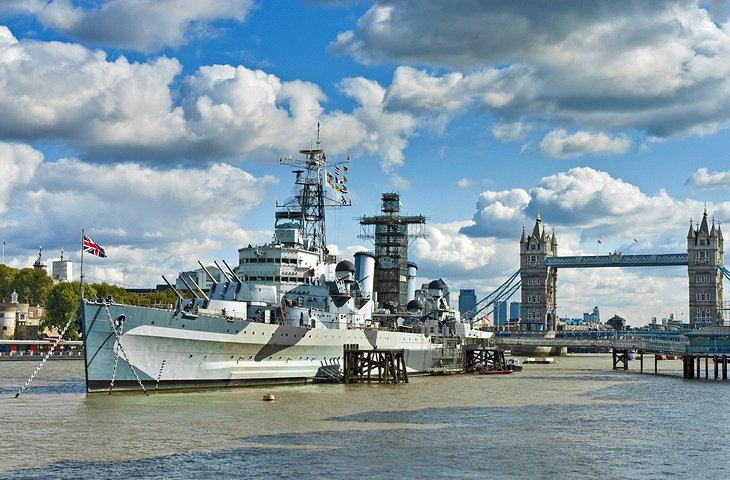 HMS Belfast and Golden Hinde II