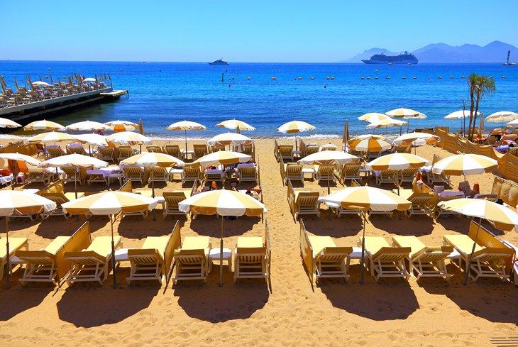 Playa privada en Cannes