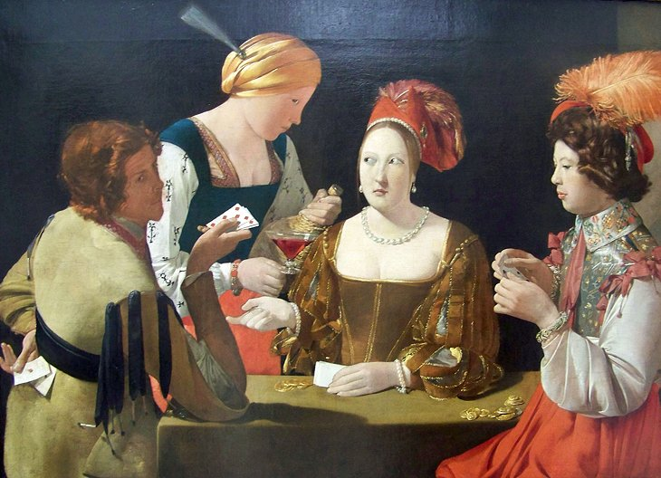 The Cheat with the Ace of Diamonds by Georges de la Tour (Sully Wing, Room 24)