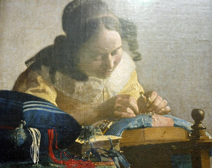 La Dentellière by Jan Vermeer (Richelieu Wing, Room 38)