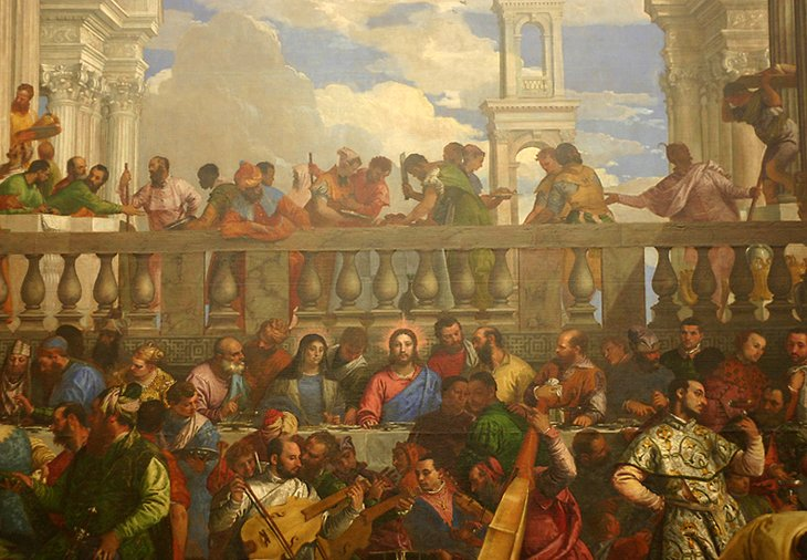Painting On Art Gallery Wall Louvre
