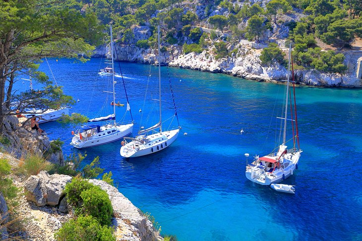 Sailboats at the Calanques