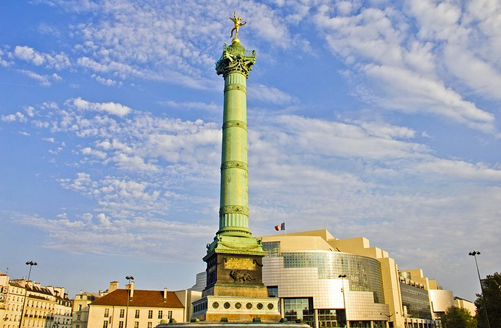 ميدان الباستيل، أحد أهم المعالم السياحية في مدينة باريس، فرنسا
