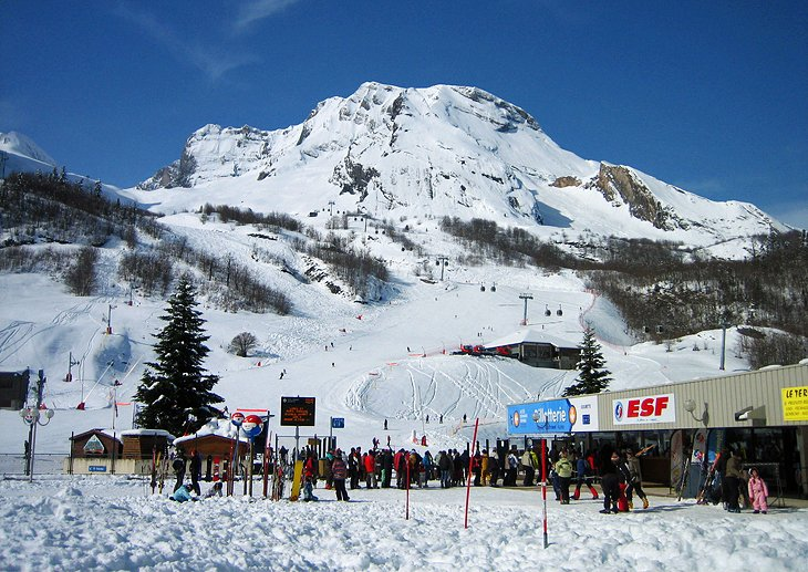 Gourette Ski Resort in the Pyrenees Mountains