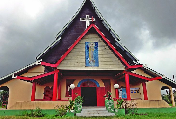 Catholic church of Notre Dame in the Hmong Village of Cacao