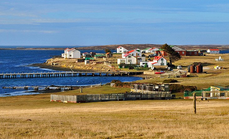 Village in East Falkland