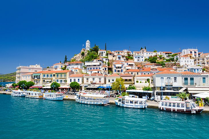 Waterfront Town of Poros, Island of Poros