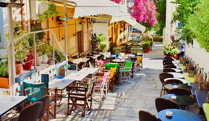 Street view of Plaka District