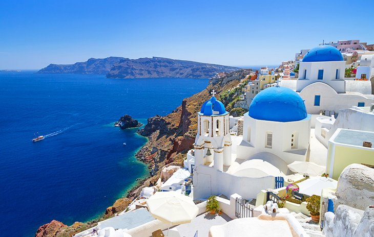 The Spectacular Scenery of Santorini Island