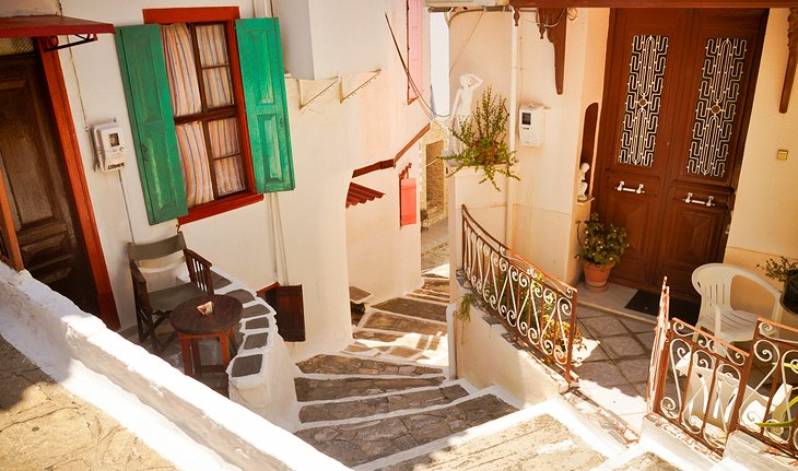 Narrow Street in Vathy (Samos)